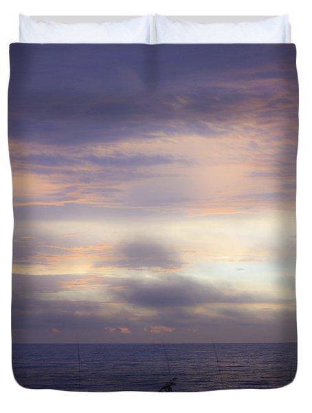 Dreamy Blue Atlantic Sunrise Duvet Cover by Teresa Mucha