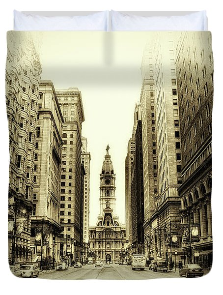 Dreamy Philadelphia Duvet Cover by Bill Cannon