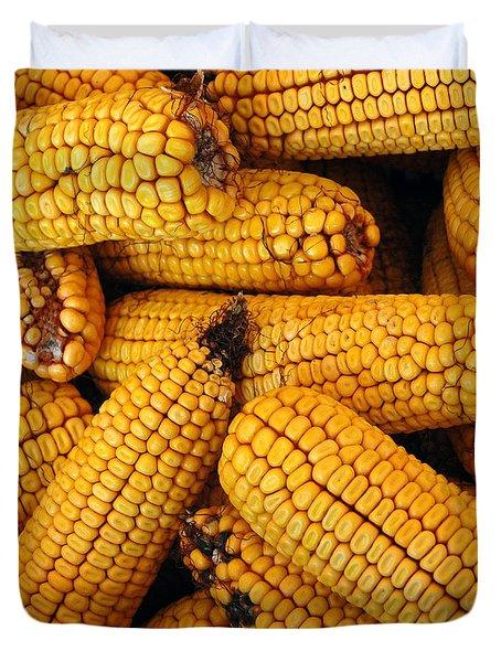 Dried Corn Cobs Duvet Cover by LeeAnn McLaneGoetz McLaneGoetzStudioLLCcom