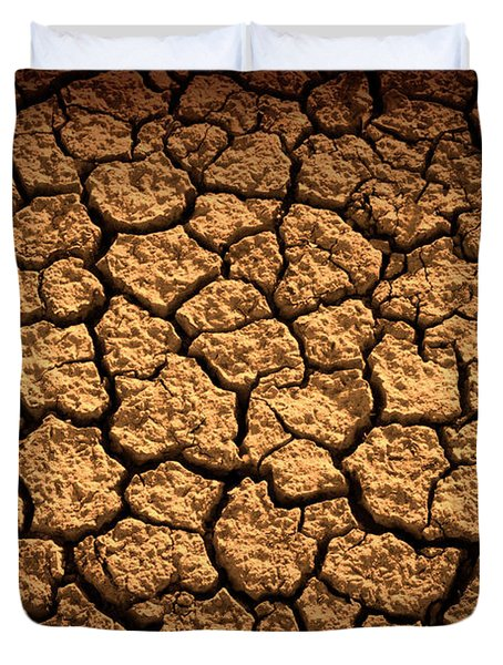 Dried Terrain Duvet Cover by Carlos Caetano