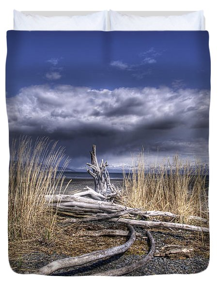 Driftwood By The Sea Duvet Cover by Michele Cornelius