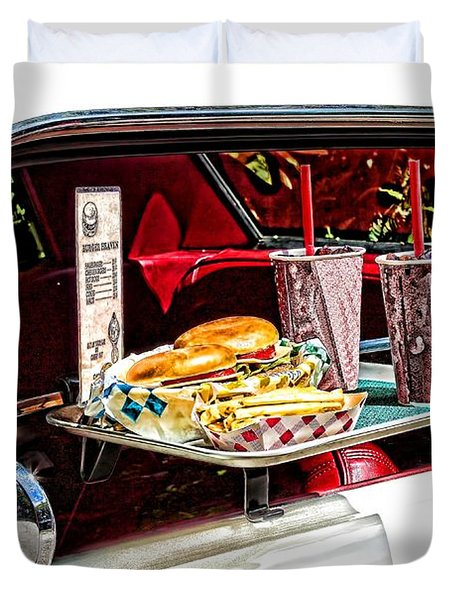 drive-in Duvet Cover by Rudy Umans