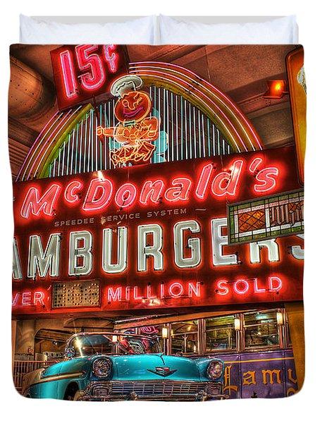 Driving America Dearborn Mi Duvet Cover by Nicholas  Grunas