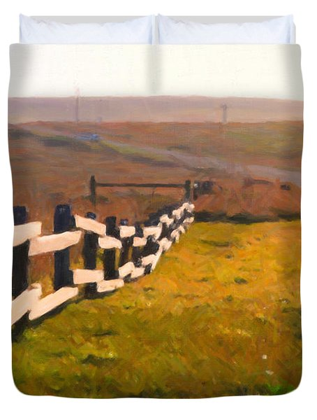 Driving Down The Lonely Highway . Study 1 . Painterly Duvet Cover by Wingsdomain Art and Photography