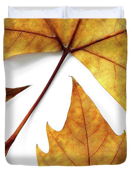 Dry Leafs Duvet Cover by Carlos Caetano