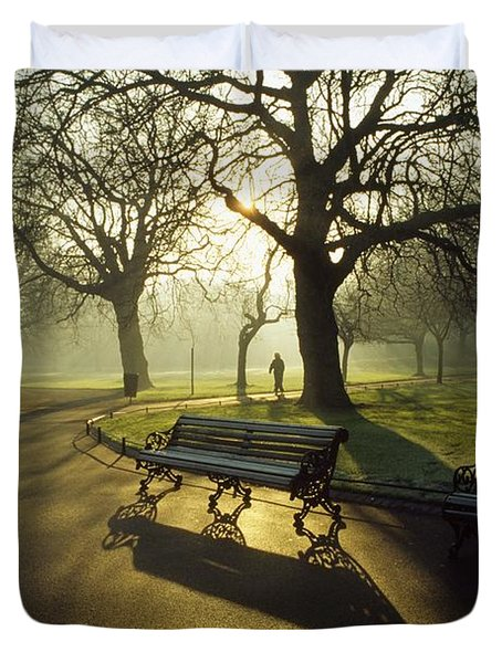 Dublin - Parks, St. Stephens Green Duvet Cover by The Irish Image Collection