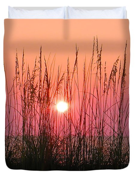 Dune Grass Sunset Duvet Cover by Bill Cannon