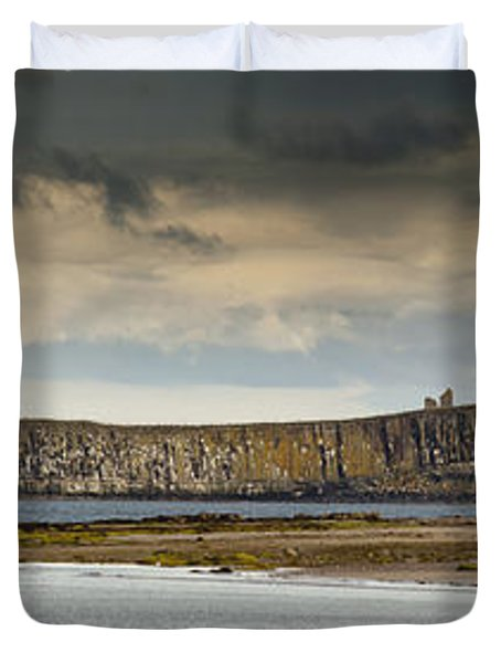 Dunstanburgh Castle On A Hill Under A Duvet Cover by John Short