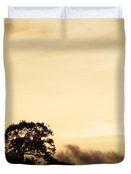 Dusk Forest  Duvet Cover by Pixel Chimp