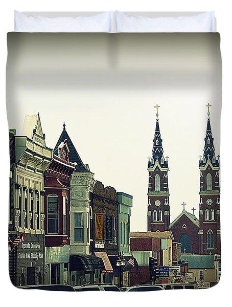 Dyersville in Iowa Duvet Cover by Susanne Van Hulst