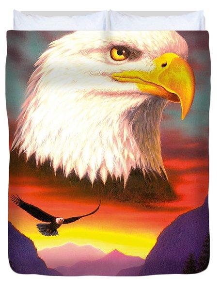 Eagle Duvet Cover by MGL Studio - Chris Hiett