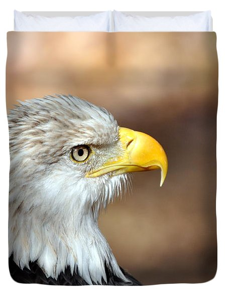 Eagle Right Duvet Cover by Marty Koch