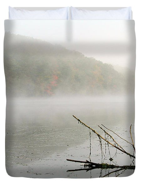 Early Autumn Morn Duvet Cover by Karol  Livote