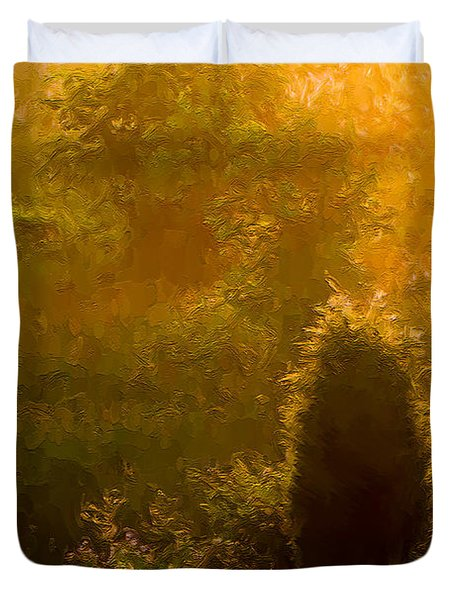 Early Gloaming Duvet Cover by Ron Jones