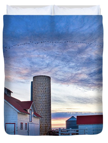 Early Morning On The Farm Duvet Cover by James BO  Insogna
