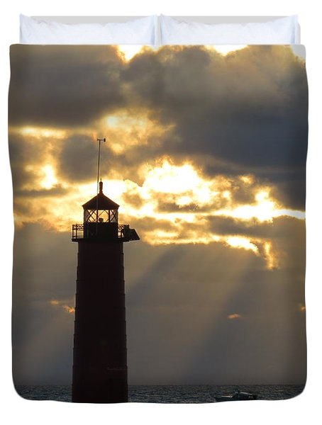 Early Morning Rays Duvet Cover by Kay Novy