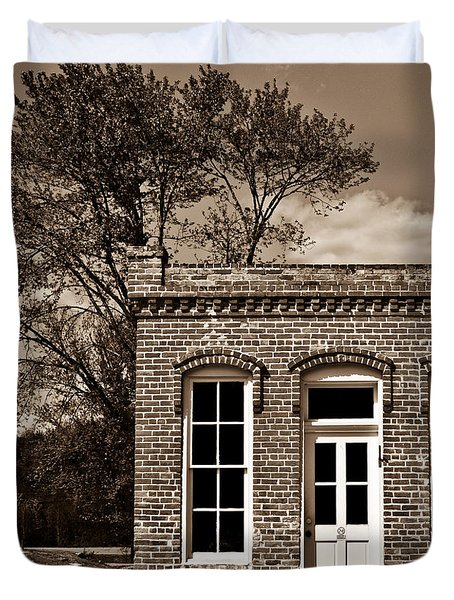 Early Office Building Duvet Cover by Douglas Barnett
