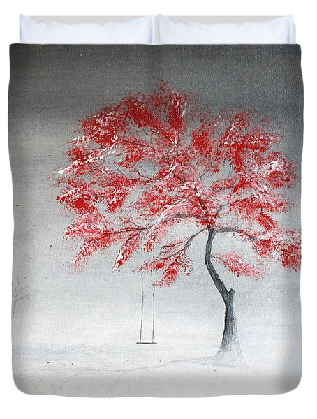 Early Snow Duvet Cover by Gray  Artus