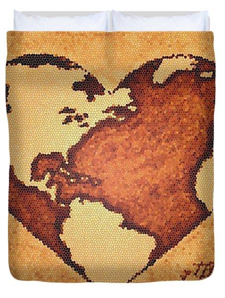 Earth Day Gaia Celebration Digital Art Duvet Cover by Georgeta  Blanaru