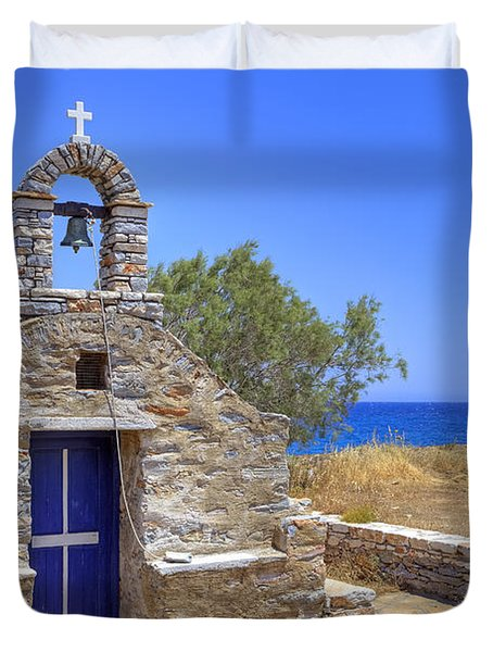 east coast Naxos Duvet Cover by Joana Kruse