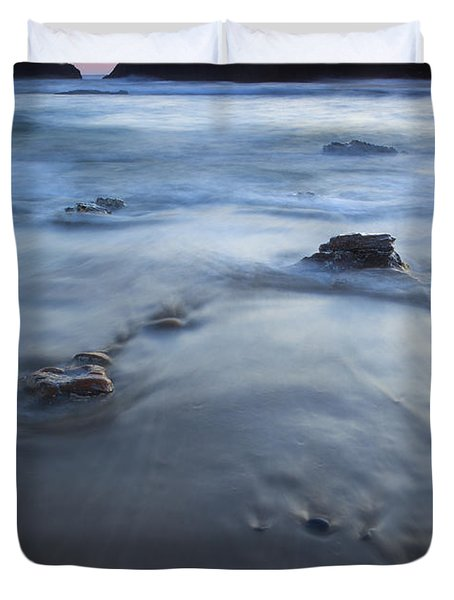 Ebb Stones Duvet Cover by Mike  Dawson