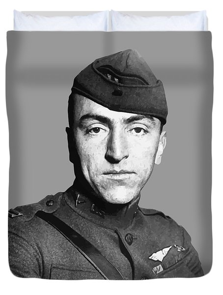 Eddie Rickenbacker Duvet Cover by War Is Hell Store
