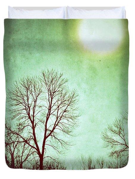 Eerie Landscape Duvet Cover by Jill Battaglia