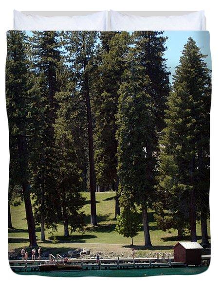 Ehrman Mansion Lake Tahoe Duvet Cover by LeeAnn McLaneGoetz McLaneGoetzStudioLLCcom