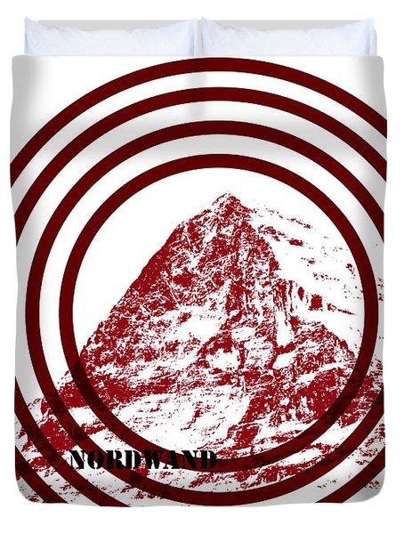 Eiger Nordwand Duvet Cover by Frank Tschakert