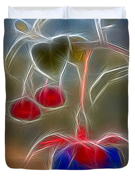 Electrifying Fuchsia Duvet Cover by Susan Candelario