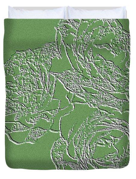 Embossed Roses Duvet Cover by Will Borden