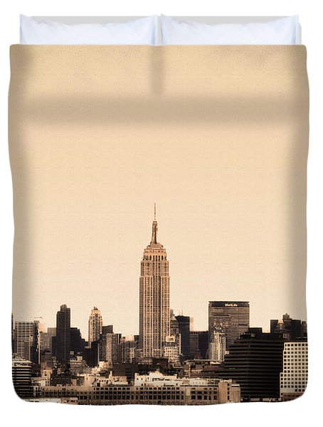 Empire State Building Duvet Cover by Bill Cannon