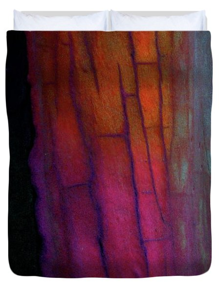 Duvet Cover featuring the digital art Enter by Richard Laeton