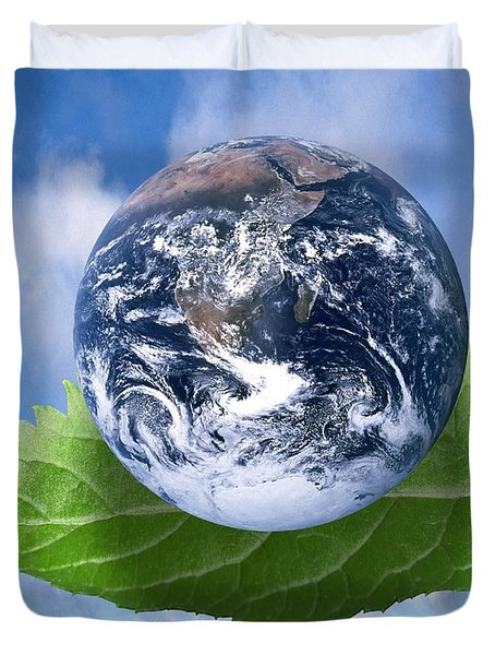 Environmental Issues Duvet Cover by Victor de Schwanberg  and Photo Researchers
