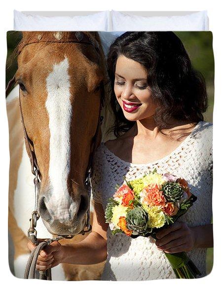 Equine Companion Duvet Cover by Sri Maiava Rusden