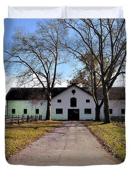 Erdenheim Farm Equestrian Stable Duvet Cover by Bill Cannon
