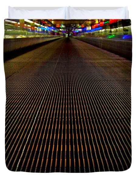Escalator View ... Duvet Cover by Juergen Weiss
