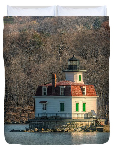 Esopus Meadows Lighthouse I Duvet Cover by Clarence Holmes