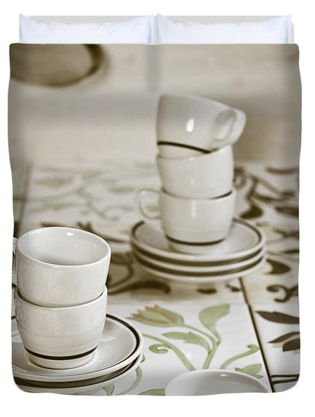 Espresso Cups Duvet Cover by Joana Kruse