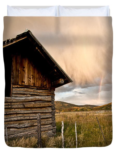 Evening Storm Duvet Cover by Jeff Kolker