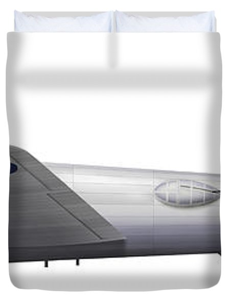 Experimental Boeing Xb-15 Bomber Duvet Cover by Chris Sandham-Bailey