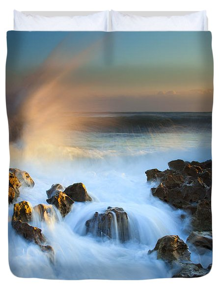 Explosive Dawn Duvet Cover by Mike  Dawson