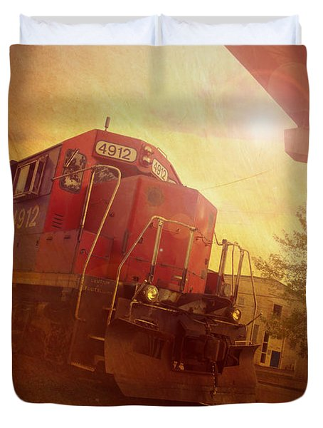 Express Train Duvet Cover by Joel Witmeyer