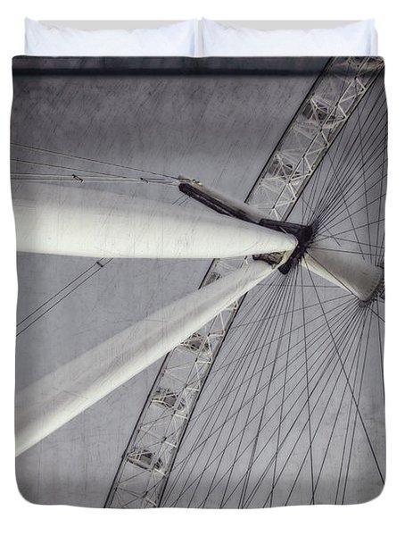 Eye On London Duvet Cover by Joan Carroll