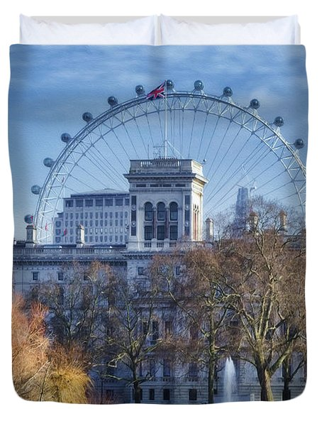 Eyeing The View Duvet Cover by Joan Carroll