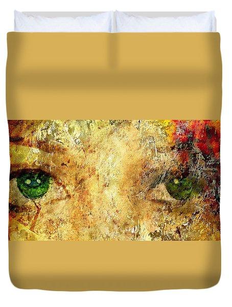 Eyes Of The Beheld Duvet Cover by Brett Pfister