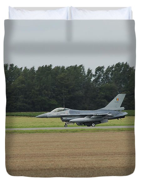 F-16 Of The Belgian Air Force Ready Duvet Cover by Luc De Jaeger