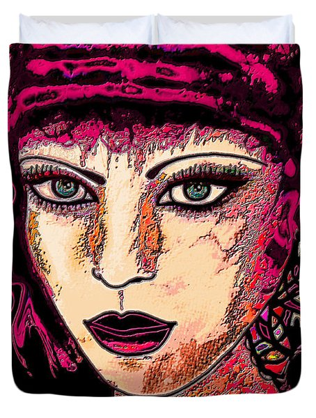Face 13 Duvet Cover by Natalie Holland
