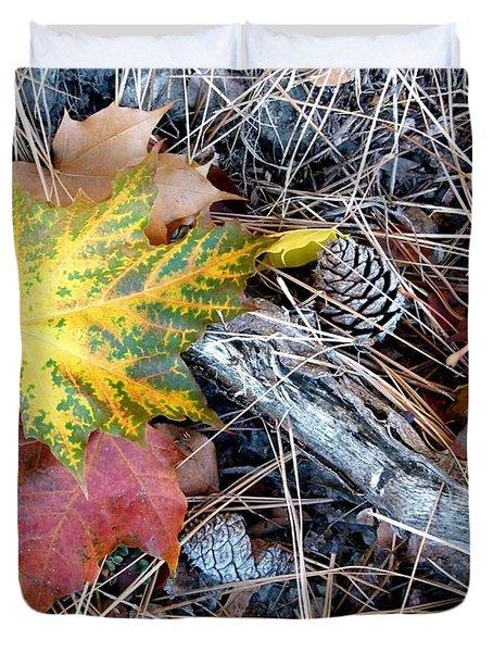 Fall Forest Floor Duvet Cover by Will Borden