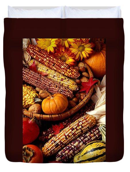 Fall Harvest Duvet Cover by Garry Gay